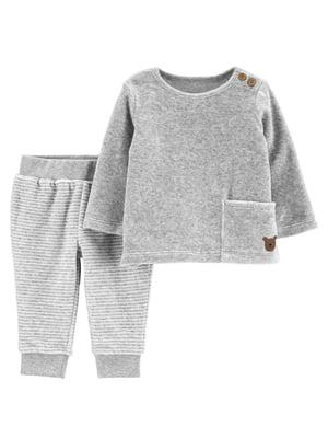 Комплект велюровый: джемпер и брюки   5352094