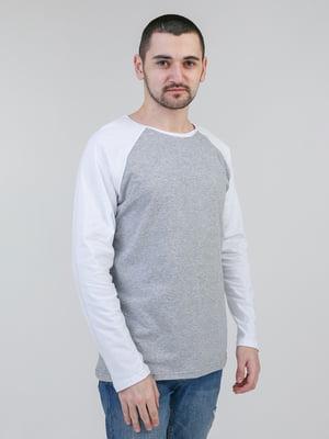 Лонгслів меланжево-білий | 5351113