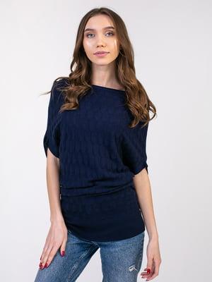 Платье-туника синее | 5350754