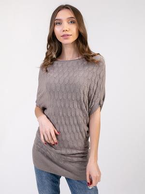 Сукня-туніка кольору кави | 5350756