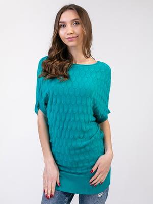 Платье-туника бирюзовое | 5350757