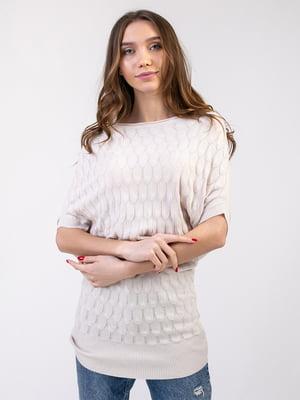 Платье-туника бежевое | 5350755