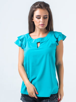 Блуза бирюзовая   5352324