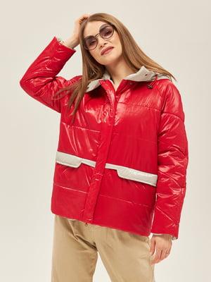 Куртка красно-серого цвета | 5352370