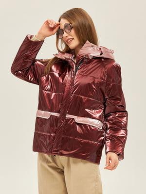 Куртка бордово-розового цвета | 5352371