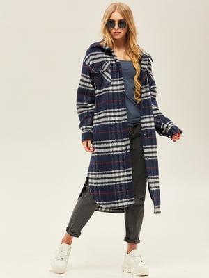 Пальто синього кольору | 5352377