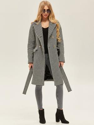 Пальто чорно-білого кольору | 5352381