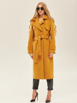 Пальто кольору гірчиці | 5352409