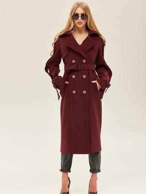 Пальто бордового кольору | 5352415