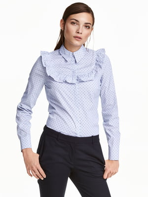 Блуза голубая | 5352878