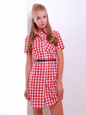 Сукня-сорочка червоно-білого кольору | 5353020