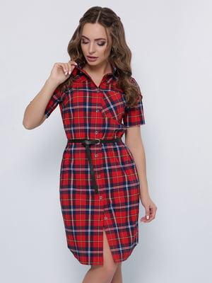 Сукня-сорочка червоного кольору | 5353022