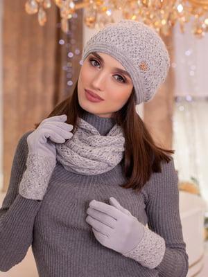 Комплект: шапка, шарф-снуд и перчатки | 5354502