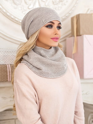 Комплект: шапка і шарф-хомут | 5354528