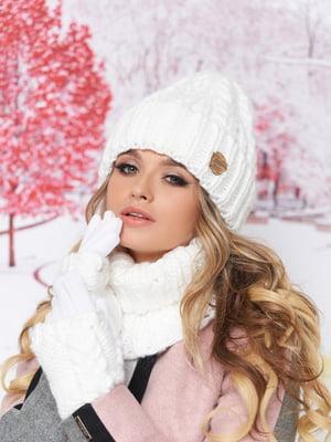 Комплект: шапка, шарф-хомут і рукавички | 5354599