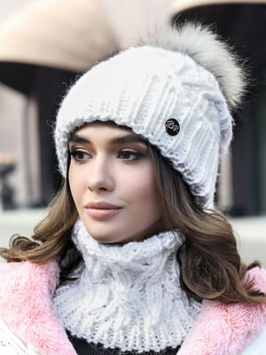 Комплект: шапка и шарф-хомут   5354610