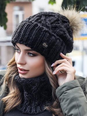 Комплект: шапка и шарф-хомут | 5354615