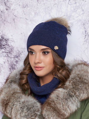 Комплект: шапка и шарф-хомут | 5354770