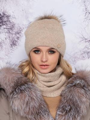 Комплект: шапка и шарф-хомут | 5354771