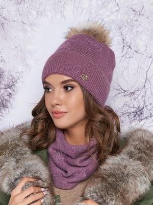 Комплект: шапка и шарф-хомут | 5354773
