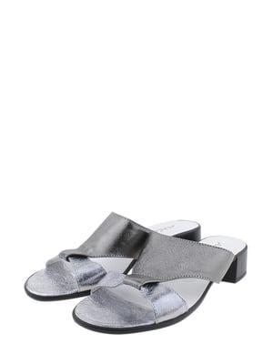 Шльопанці сріблясто-нікелевого кольору | 5353208