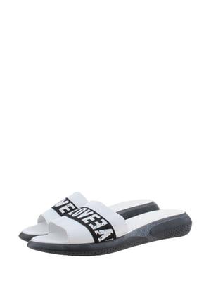 Шльопанці біло-чорні | 5353218
