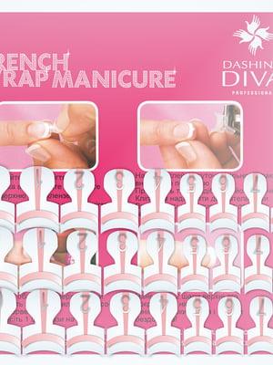 Набор типс для французского маникюра - розовый (28 штук, 14 размеров по 2 шт.) - Dashing Diva - 5342582
