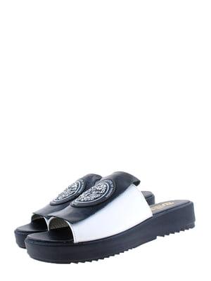 Шльопанці чорно-білі | 5352504