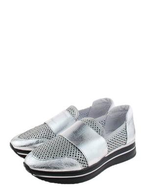 Мокасини сіро-сріблясті | 5352550