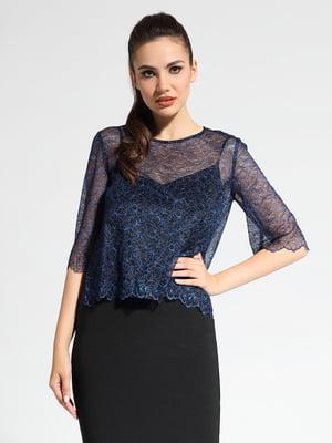 Блуза черно-синяя | 5355080