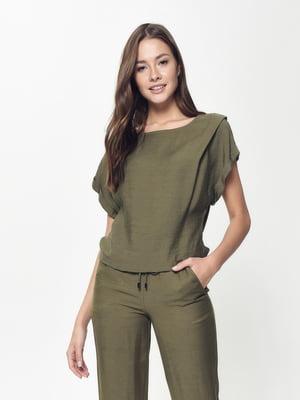Блуза кольору хакі | 5355095