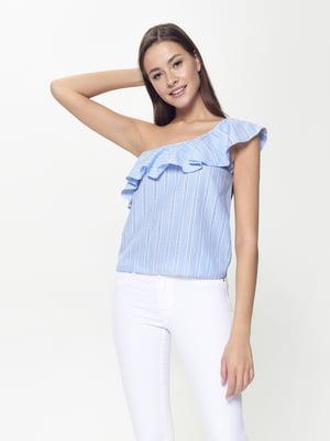 Блуза голубая в полоску | 5355100