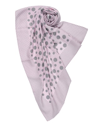 Платок розовый в горошек | 5357086