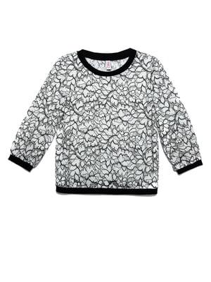 Джемпер бело-черный | 5355569