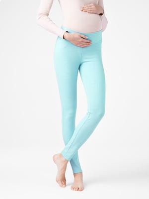 Леггинсы голубые для беременных | 5355915
