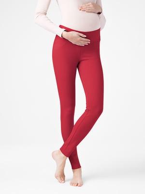 Леггинсы красные для беременных | 5355918