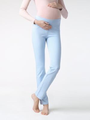 Леггинсы голубые для беременных | 5355956