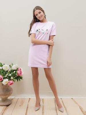 Платье пастельно-лилового цвета | 5356027