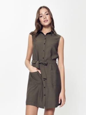 Сукня кольору хакі | 5356030