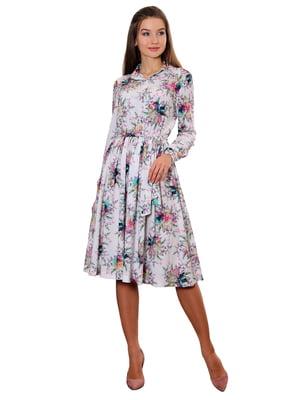 Сукня біла з принтом | 5357953