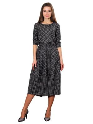 Платье серо-зеленое клетчатое | 5357957