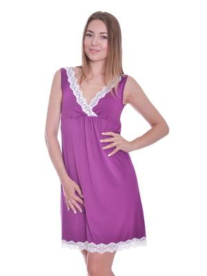 Нічна сорочка пурпурового кольору | 5358319