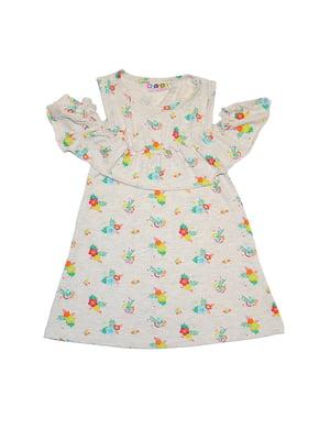 Платье серое с принтом   5358806
