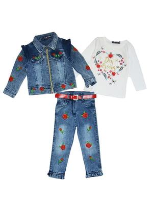 Комплект: джинси, реглан і куртка | 5358848