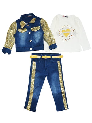 Комплект: джинси, реглан і куртка | 5358849