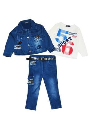 Комплект: джинси, реглан і куртка | 5358850