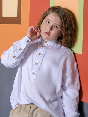 Рубашка-поло белая | 5359498