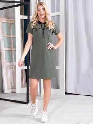 Сукня кольору хакі | 5360381