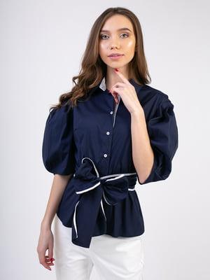 Блуза синяя | 5352061