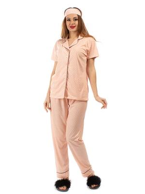 Пижама: рубашка, брюки и повязка на глаза | 5361701